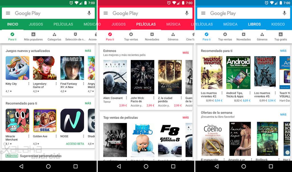 Google Play Store rediseño