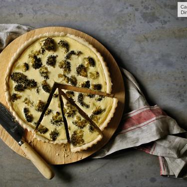 Quiche de brócoli, queso de cabra y mostaza, receta con y sin Magimix Cook Expert