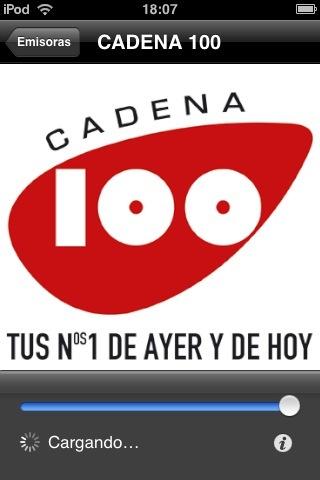 interfaz de Cadena 100