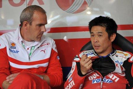 Noriyuki Haga al equipo DFX con Aprilia en 2011