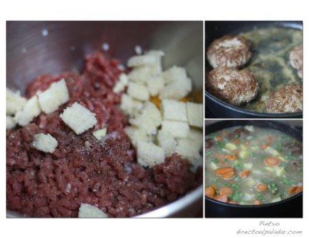 Filetes rusos en salsa. Pasos