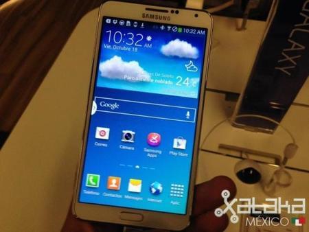 Samsung Galaxy Note 3, primer contacto