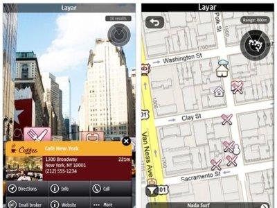 Layar Reality Browser en la Ovi Store