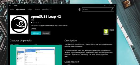 Ya se puede descargar openSUSE desde la tienda de aplicaciones de Windows