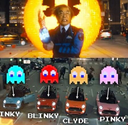 Pac-Man es uno de los videojuegos que aparecen en Pixels