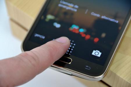 Escáner de huellas del Galaxy S5