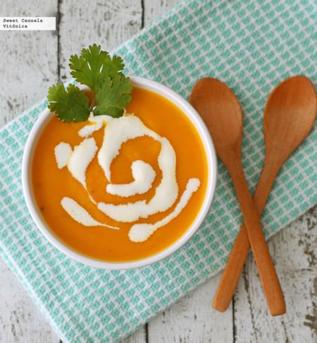 Crema de zanahoria y apio. Receta