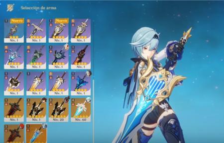 Armas para Eula Genshin Impact