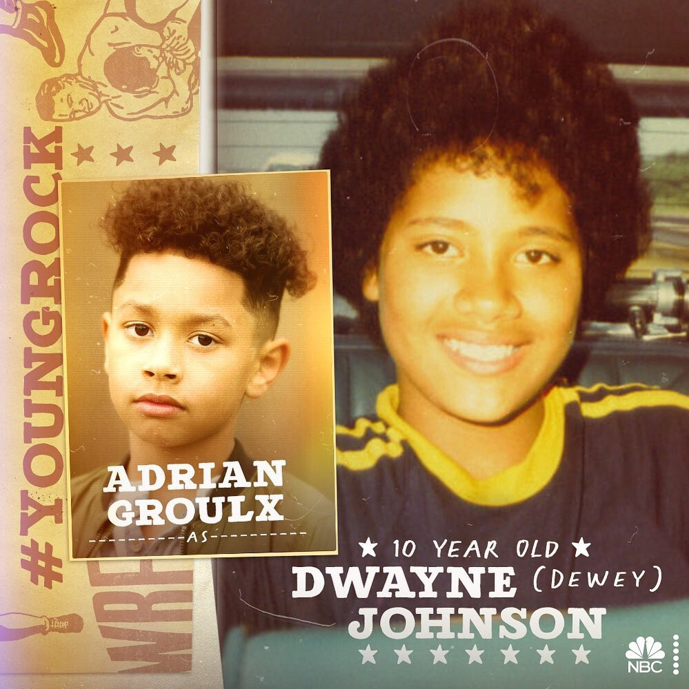 Dwayne Johnson Young Rock Adrian Groulx NBC