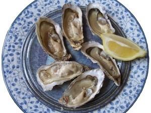 Media docena de ostras