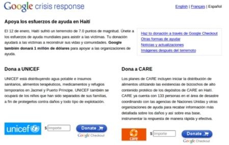 Google vuelca su infraestructura para ayudar a Haití