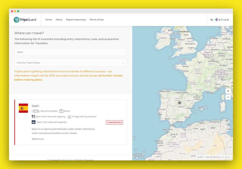 En esta web puedes revisar las actuales restricciones de viaje por el COVID-19 alrededor del mundo