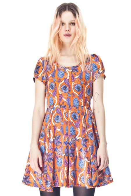 vestido estampado kling