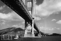 Fotografías de la construcción del Golden Gate