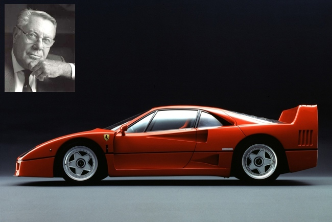 Sergio Pininfarina y el Ferrari F40