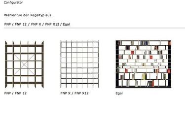 Configurator de Moormann, otra aplicación on line para diseñar estanterías