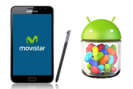 Samsung Galaxy Note de Movistar se actualiza a Android 4.1 (Jelly Bean)