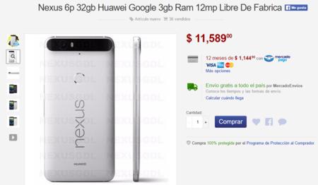 Nexus 6p Venta Mercado Libre Mexico