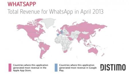 WhatsApp gana más en Google Play que en la App Store en tres países, uno de ellos España (Distimo)