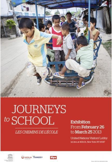 """""""Trayectos a la escuela"""", exposición sobre las dificultades de los niños para ir al colegio"""