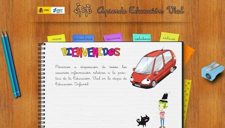 Aprende educación vial, la web de la DGT para niños