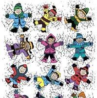 Actividad extraescolar en Rusia: jugar en la nieve sin ropa