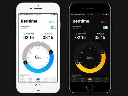 Ios 11 Concept Dark Clock App