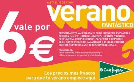 Descuento de 6 euros en El Corte Inglés de Salamanca