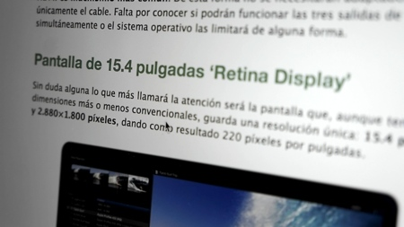 Macbook Pro Retina análisis pantalla Xataka