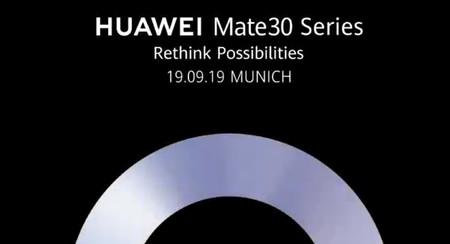 Los Huawei Mate 30 se presentarán el 19 de septiembre: esto es todo lo que sabemos de ellos