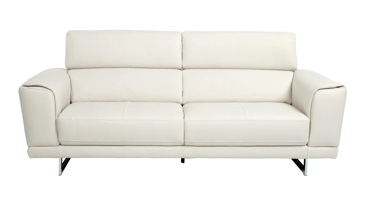 Sofá de piel de tres plazas