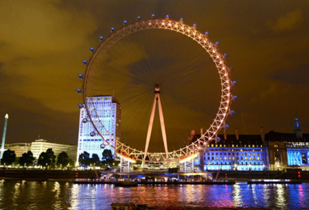 Convierten el ojo de Londres en un medidor del interés por los juegos olímpicos