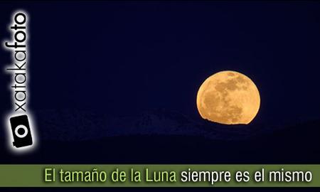 Comprobado, el tamaño de la Luna no varía según su posición en el cielo.