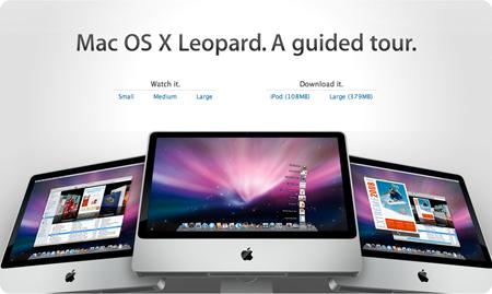 Tour guiado por Mac OS X Leopard