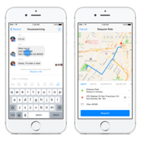 Facebook permitirá solicitar servicios de Uber desde Messenger