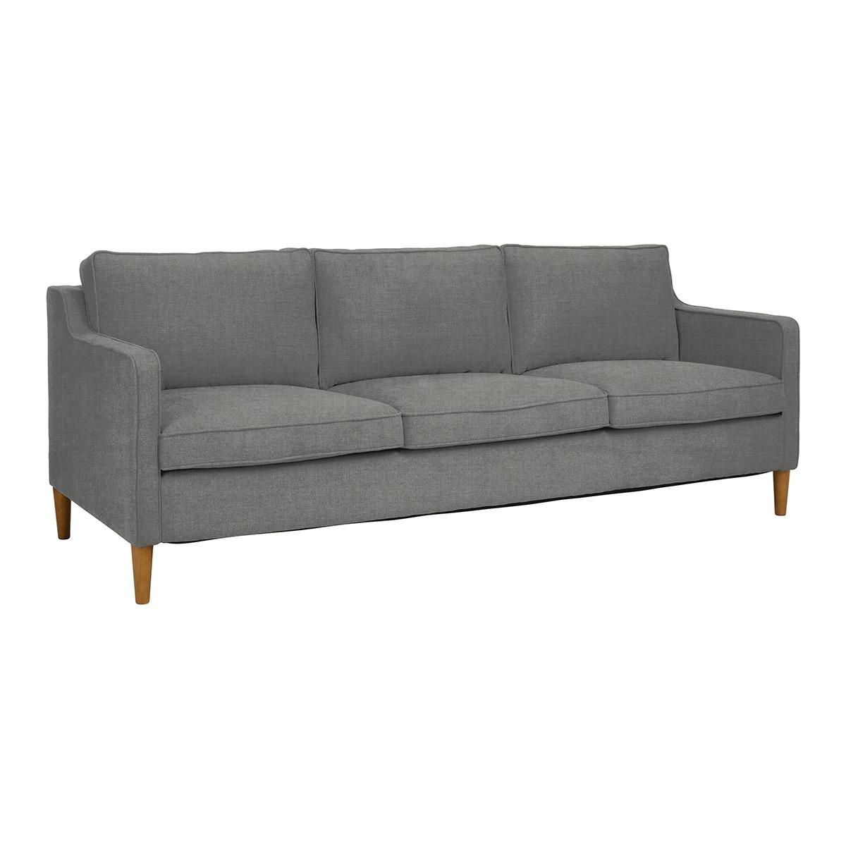 Sofá tapizado de 3 plazas Montreal Corte Inglés Medidas: 227 (ancho) x 76 (alto) x 91 (fondo) cm