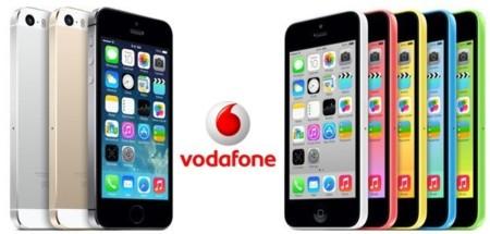 Phone 5s y iPhone 5c: precios con Vodafone. En Madrid podréis comprarlos a partir de medianoche