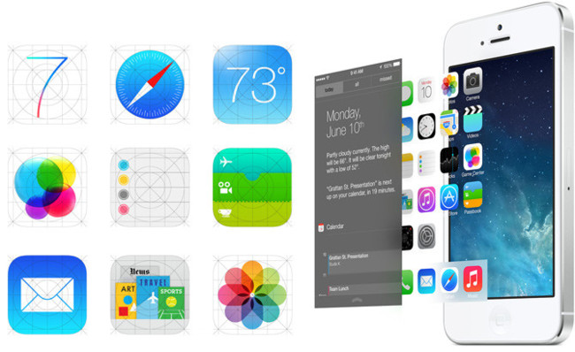 Iconos alternativos de iOS 7