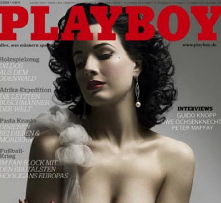 Dita von Teese, en el Playboy alemán