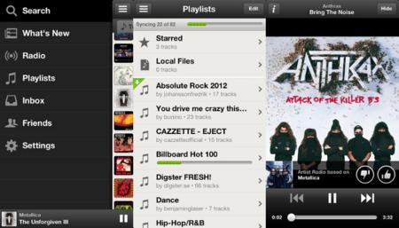 Actualizado Spotify para iOS con nueva interfaz