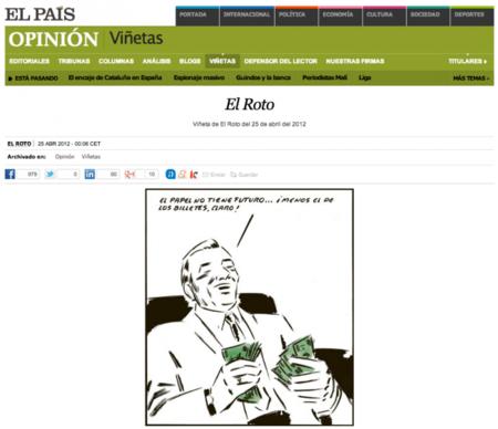 """'El Roto': """"Los testimonios escritos no pueden ser fácilmente manipulados, como ocurre en Internet"""""""