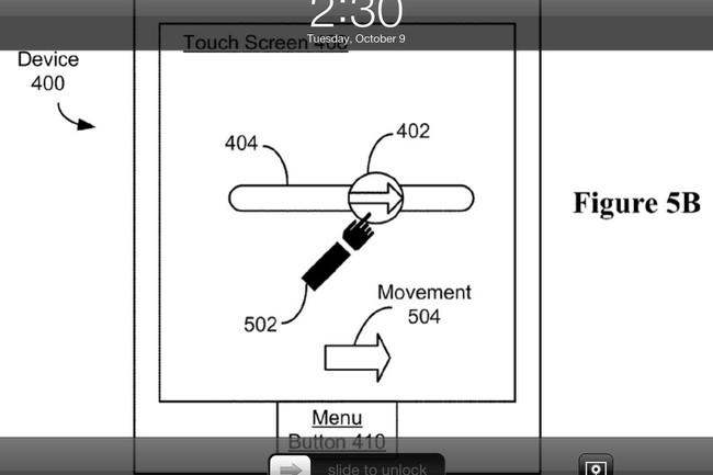 patente slide to unlock