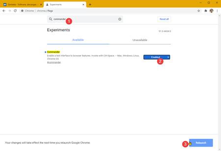Google Chrome Commander