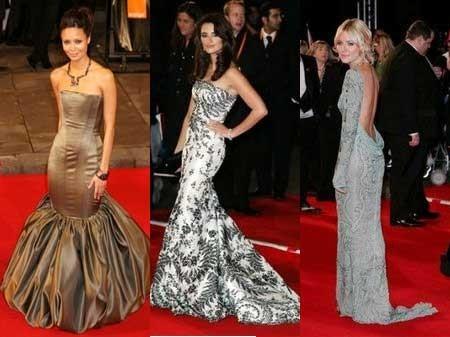 La alfombra roja de los premios de cine británicos (BAFTA's)