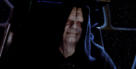 Return Of The Jedi Emperor Palpatine Smiling
