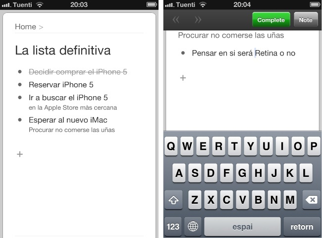 workflowy listas tareas iphone