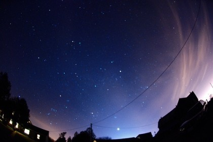 Winter Constellations and Zodiacal light (Computer Science Geek)