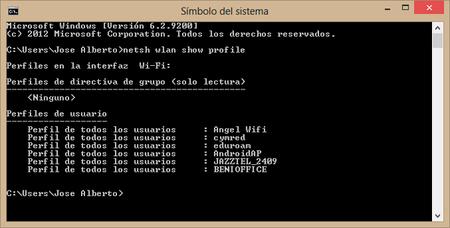 lista wifi comandos