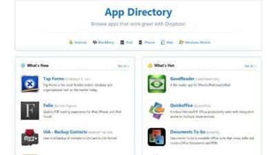 Dropbox ahora tiene su propio directorio de aplicaciones