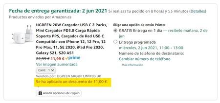 Pack Mini Cargadores Ugreen 20w Qjc5ve52